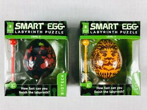 Smart Egg Bepuzzled Biotech & Lion Lot Of 2 Labyrinth Puzzle Age 8+ Level 2 New
