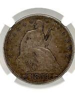1854 Arrows Seated Liberty Half Dollar 50C NGC XF-45 Original Toning Silver Coin