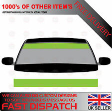 GLOSS LIME GREEN WINDSCREEN SUNSTRIP 1400mm x 190mm VAN DECALS GRAPHICS STICKERS