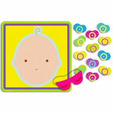 Pin the Pacifier on the Baby Party Game Activity Blind fold Mask & 12 Pacifiers