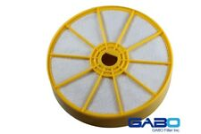 Gabo Filters GDV-402-1P for Part# 904979-02 Dyson DC07 Original Silver/Yellow. W