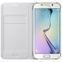 PORTEFEUILLE EN CUIR LUXE véritable Porte-Carte étui rabattable pour Samsung &