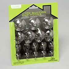 Suction Cup Hooks - Clear Silicon w/ Metal and Plastic Hooks (Set of 17 hooks)