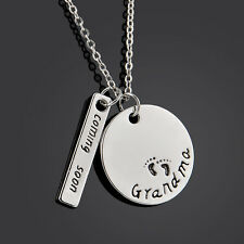 Coming Soon Coin Stick English Proverbs Love Letter Pendant Necklace Jewelry New