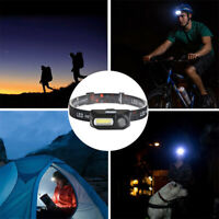 LED Headlamp Headlight COB Flashlight USB Rechargeable Torch 18650 Battery CHY