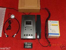 GRUNDIG Dt3210 Stenorette mit Netzteil,Handmikrofon+Kopfhörer+Kassete im OVP&NEU