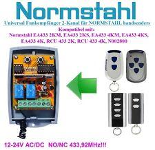 NORMSTAHL COMPATIBILE CON RICEVITORE 2-ch per EA433 2 KM, 2KS, RCU 433 2K telecomando