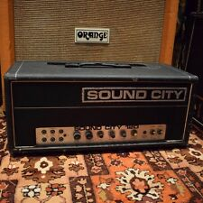 VINTAGE 1970s Sound City 120 L120 PIOMBO MARK 4 Custom Built Valve Amp Amplificatore