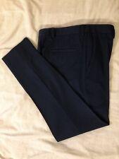 TOPMAN Navy Blue Skinny Trousers W32 R Waist 32