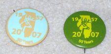 2 ILLINOIS DEER HARVEST PINS 2007 ARCHERY & SHOTGUN ANNIVERSARY YEAR