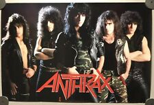 Anthrax Poster Vintage 1985 Promo, Band Portrait, Island record 36x24
