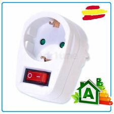 enchufe con interruptor 3680W toma corriente red enchufe on off adaptador schuko