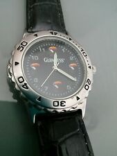 NEW OTHER MENS GUINNESS & CO RARE QUARTZ BLACK LEATHER WATCH
