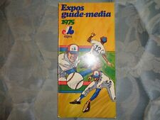 1975 MONTREAL EXPOS MEDIA GUIDE Press Book Program Yearbook Baseball Magazine AD