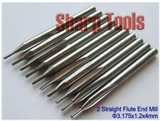 10pcs 3.175x1.2x4mm double flute straight slot Engraving wood CNC router bits