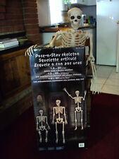 Halloween posable pose-n-stay skeleton 5 feet tall