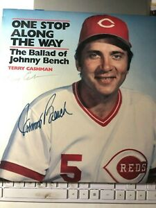 Johnny Bench and Terry Cashman autographed: The ballad of Johnny Bench record