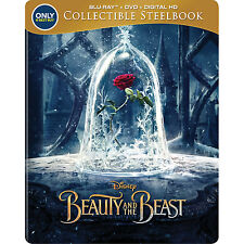 Disney's Beauty and the Beast Blu Ray Steelbook Best Buy Exclusive - BRAND NEW!