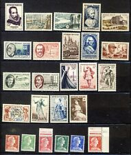LOT TIMBRES NEUFS**    ANNEES 50     G.O    2 SCAN