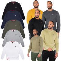 Alpha Industries Herren Sweatshirt Basic Small Logo Pullover Rundhals MA1 S-3XL