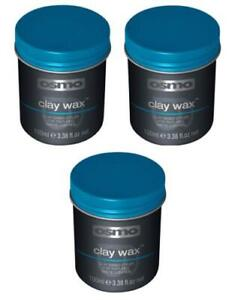 Osmo CLAY Wax 3 X 100ml - Mens Hair Styling Matte Effect Textured Control