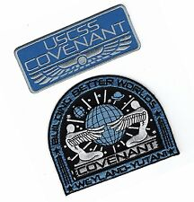 Alien Movie Prometheus Covenant Weyland Corp Crew Uniform 2PC Cosplay Patch