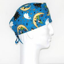 Peanuts Gang Lucy Halloween theme purple scrub hat
