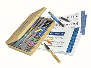 STAEDTLER Calligraphy Pen Set 33 Pieces, Blue