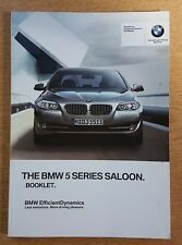 BMW 5 SERIES SALOON F10 OWNERS BOOKLET 2010-2013 PACK G-58