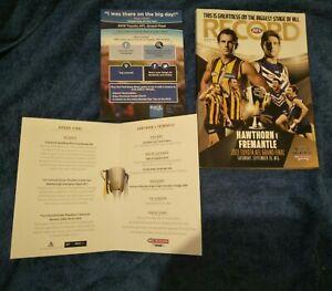 AFL 2013 PREMIERSHIP YEAR HAWTHORN GRAND FINAL MCG GAME DAY RECORD & LUNCH MENU!