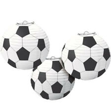 SOCCER BALL PAPER LANTERN DECORATIONS (3) ~ Birthday Party Supplies Sports White