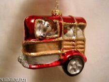 BLOWN GLASS HORSE TRAILER~FARM~RANCH~CHRISTMAS ORNAMENT~NWT