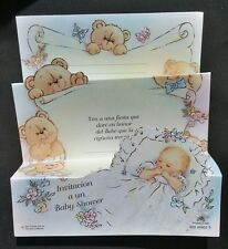Invitaciones para Baby shower  Español~ Spanish Baby shower invitations, Favors