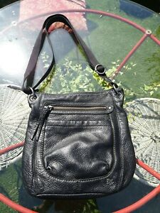 The Sak Black Soft Bovine Leather Crossbody Bag
