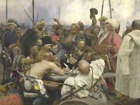 Ilya Yefimovich Repin Cossacks Old Master Art Painting Canvas Art Print