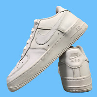 Nike Air Force 1 Women's Girl's Shoes Size Uk 4.5 White Casual Trainers EUR 37.5