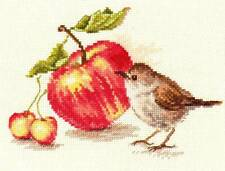 Counted Cross Stitch Kit ALISA 5-22 - Bird and apple