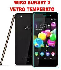 PELLICOLA SCHERMO IN VETRO TEMPERATO PER WIKO SUNSET 2 II SALVA DISPLEY