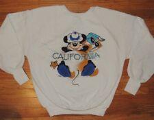 Vintage 80s Disney Character Fashions Mickey Mouse California Sweatshirt Medium