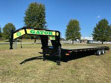 Gooseneck Trailer, 2021 Gator 20+5 work horse equipment trailer wide ramps
