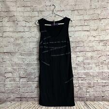 Cop Copine Size 2 Black Gray Tiered Sleeveless Dress Stretch