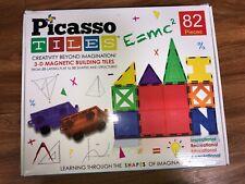 Picasso Tiles 2 Boxes 82 Pieces Plus 2 Cars (164 pieces total)