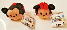 "Disney ""Tsum Tsum"" Micky & Minnie Mouse Set Mini Plush Characters Toy - NWT"