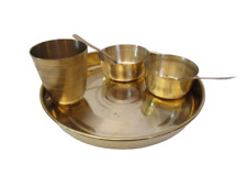 BRASS Dinner SET - Plate / 2 Bowl / 2 Spoon / Water Glass - Kitchenware