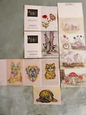 Unique set of 10 Animal Greetings cards - Woodland Creatures and Dogs