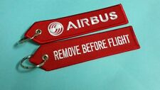 ONE Embroidery Keychain Airbus Remove Before Flight Aviation Aeroplane Aircraft