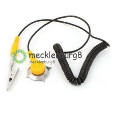 NEU ESD Alligator Clip Anti Static Coiled Cord Ground Cable Grounding Buckle