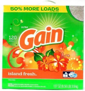 1 Gain Ultra 120 Loads Laundry Detergent Island Fresh Scent 50% More Loads 137oz