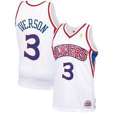 Philadelphia 76ers Allen Iverson Mitchell Ness White 1996-97 Classic NBA Jersey