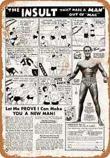 Metal Sign - 1972 Charles Atlas He-Man - Vintage Look Reproduction